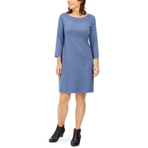 Karen Scott Sport Cotton Hardware Dress L